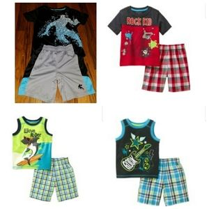 Lot of boys size 4T tops & 3T bottoms Gently worn